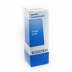 Ксилен, капли наз. 0.1% 10 мл №1